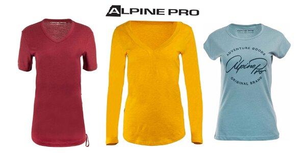 Dámske tričká Alpine Pro: krátky i dlhý rukáv
