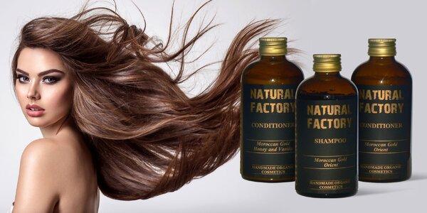 Organické sprchové gély, šampóny a kondicionéry