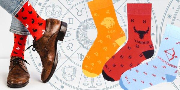 Veselé ponožky s motívmi znamení zverokruhu