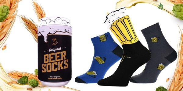 Pivné ponožky v darčekovej plechovke: 5 druhov