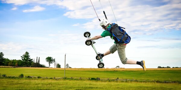 Zažite kurzy adrenalínového LANDKITINGU!