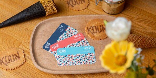 KOUN: poukaz na 10, 20 či 30 kopčekov zmrzliny