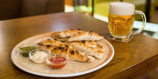 Pravé talianske pizza rožky a 0,5 l piva z Peppe's