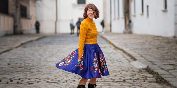 Originálne sukne s tradičným Vajnorským ornamentom