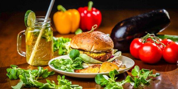 Vegetariánske či vegánske burger menu alebo konzumné v hodnote 10€