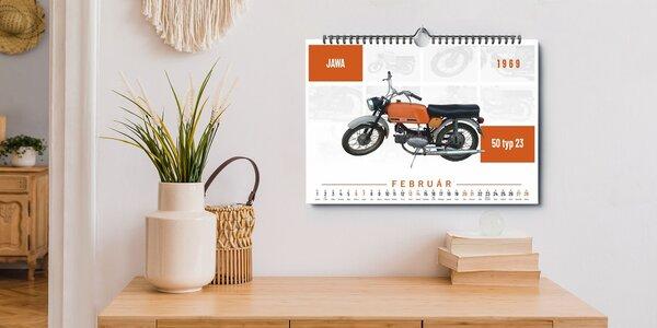 Nástenný kalendár retro motocyklov 2021