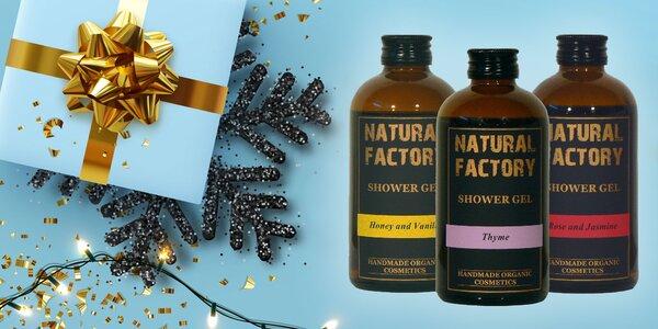 Organické sprchové gély, šampóny, kondicionéry a mlieka