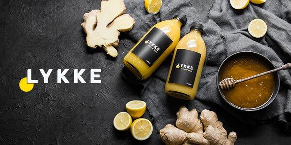 """LYKKE: prírodný zázvorový """"shot"""" s citrónom a medom"""