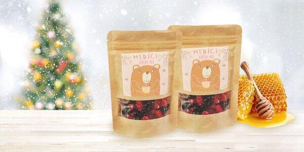 Balenie zdravých medovo-ovocných mackov Medíci