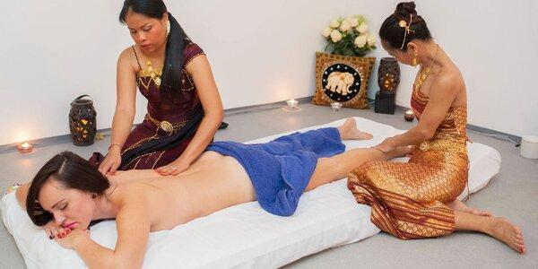 Účinná štvorručná či párová thajská masáž