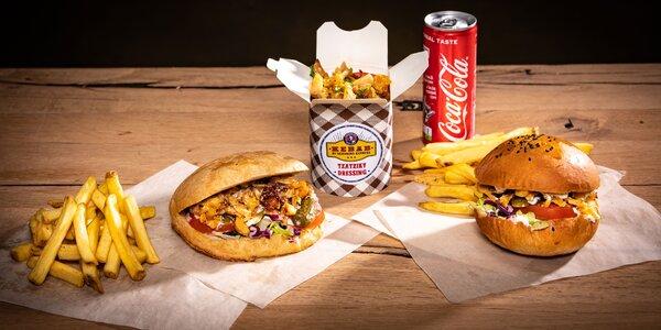Kebab s prílohou a nápojom v Geronimo – osobný odber
