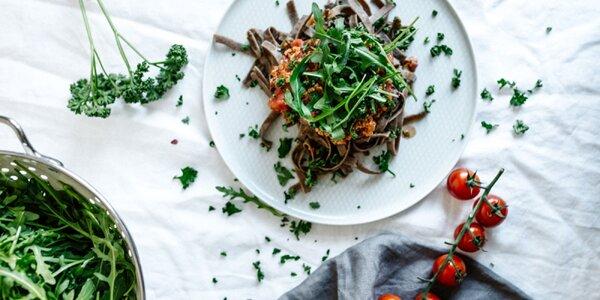 Superfood: šošovicové, spirulinové a cvrčkové tagliatelle