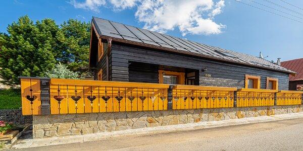 Zrekonštruovaná drevenica až pre 12 osôb v srdci malebného Ždiaru