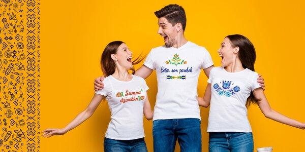 Dámske alebo pánske tričko s ľudovou výšivkou