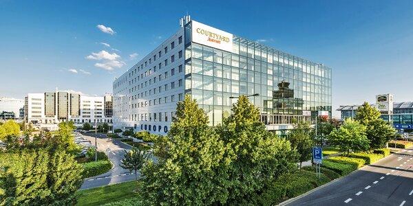 Hotel Marriott na pražskom letisku s raňajkami či polopenziou