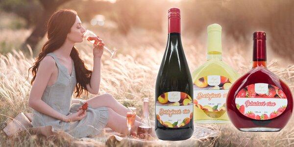 6 ks Balenie plné ovocných vín: 3 druhy alebo mix