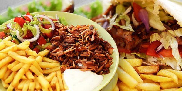 Kurací kebab tanier alebo v pite
