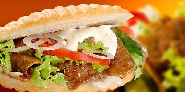 1 x alebo 2 x kurací kebab