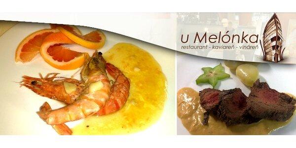 Degustačné menu v reštaurácii U Melónka len za 14,90 Eur.