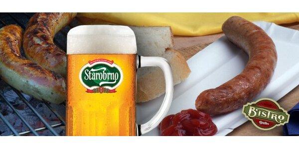 1,30 Eur pečenú klobásu a dokonale orosené pivo v Bistre Bankov.