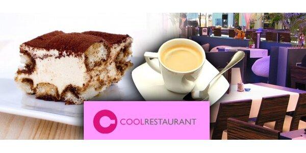 1,90 EUR za najlepšie talianske Tiramisu v reštaurácii COOL, kávička k tomu !