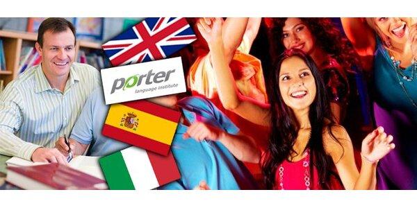 18 Eur za jazykový kurz anglického, talianskeho alebo španielskeho jazyka!