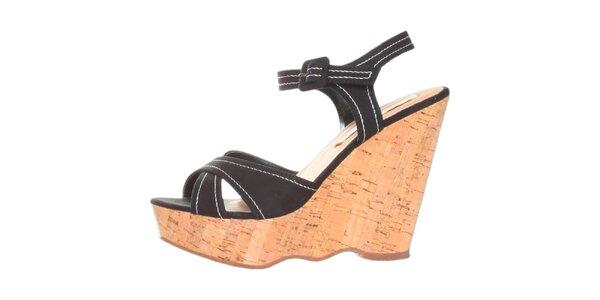 Dámske čierne sandálky na platforme Ana Lublin