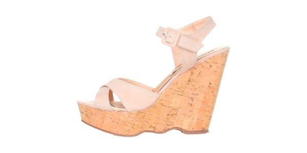 Dámske béžové sandálky na platforme Ana Lublin