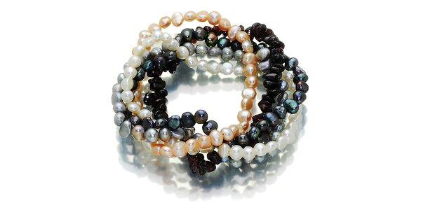 Farebný perlový náramok Orchira