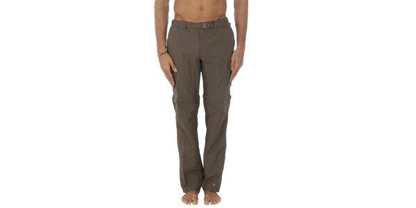 Pánske hnedé športové nohavice Columbia s odopínacími nohavicami