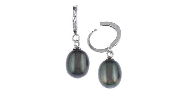 Náušnice Orchira so striebornými perlami
