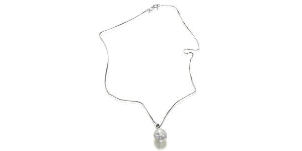 Strieborný náhrdelník Orchira s velkou bielou perlou