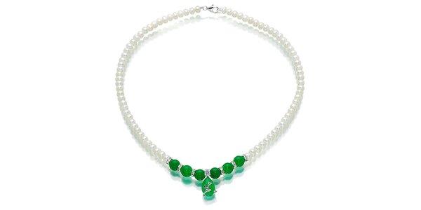 Biely perlový náhrdelník Orchira