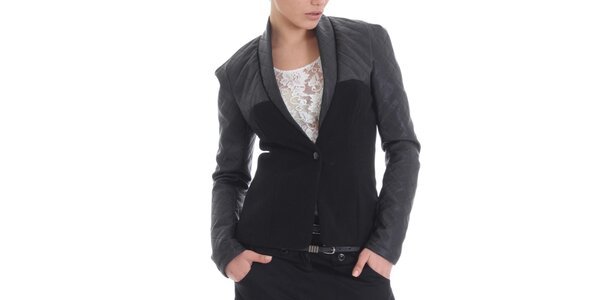 Dámske kašmírové čierne sako Caramela Fashion