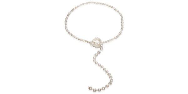 Biely perlový náhrdelník Orchira s perlovým srdcom