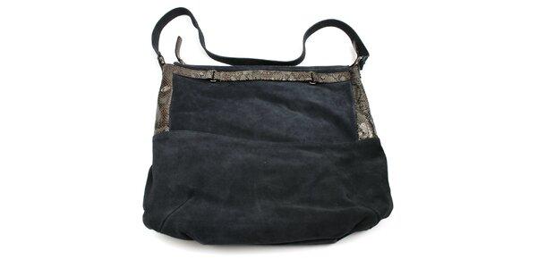 Dámska kožená tmavomodrá kabelka Acosta