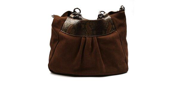 Dámska hnedá semišová kabelka Acosta