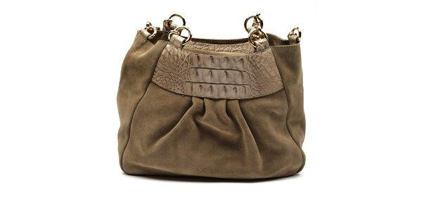Dámska semišová hnedá kabelka Acosta
