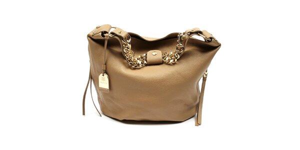 Dámska béžová kabelka so strapcami Acosta