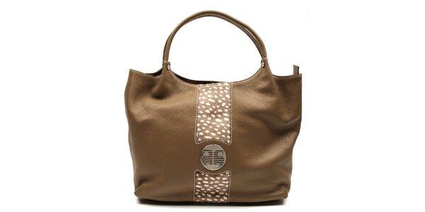 Dámska svetlo hnedá kabelka s bodkami Acosta