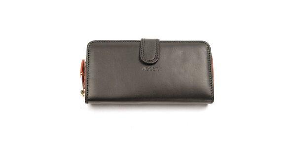 Dámska čierno-oranžová peňaženka Acosta