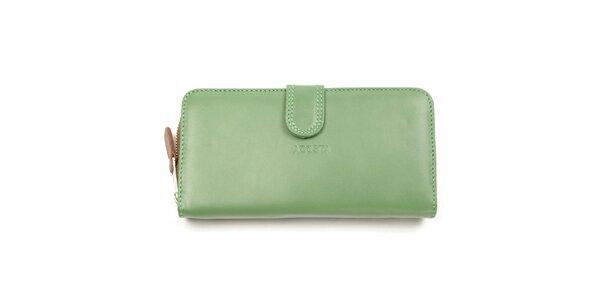 Dámska zeleno-hnedá peňaženka Acosta