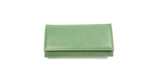 Dámska zelená podlhovastá peňaženka Acosta
