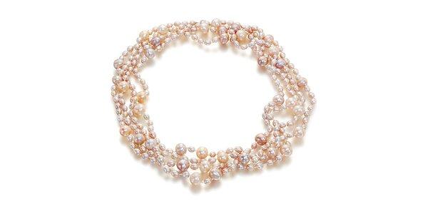 Dámsky náhrdelník z ružových perál Orchira