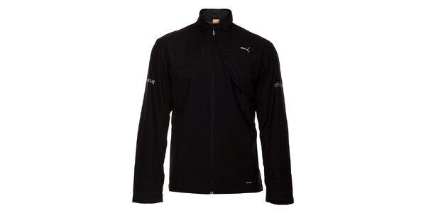 Pánska čierna softshellová bunda Puma