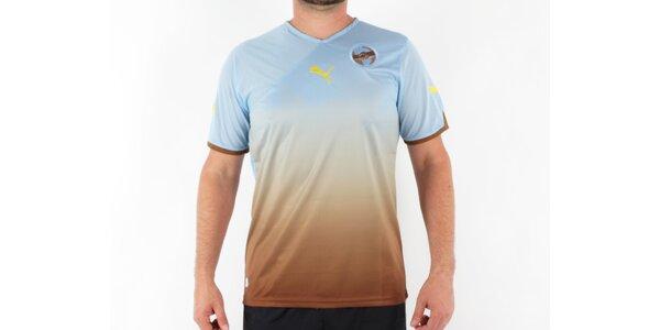 Pánske modro-hnedé tričko Puma Africa