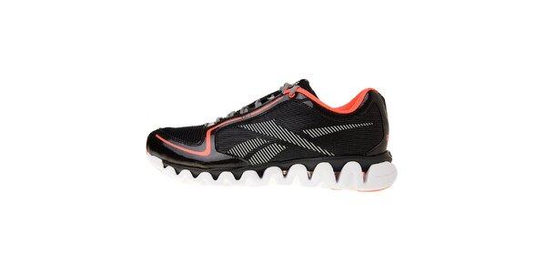 Pánske čierne bežecké topánky Reebok s technologiou ZigTech a ružovými detailami