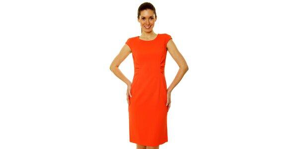 Dámske červené šaty v štýle Kirsten Dunst Roberto Verino