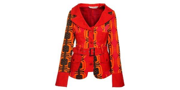Dámsky oranžový kabát od Savage Culture