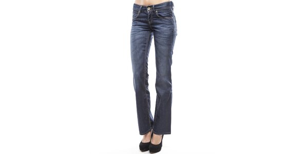 Dámske modré boot cut džínsy s šisovaním Tommy Hilfiger